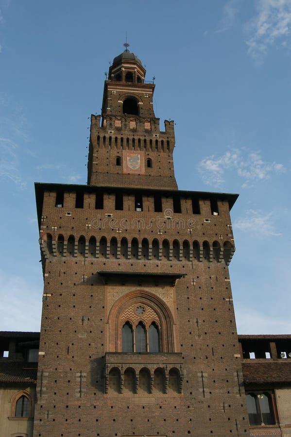 Sforza's Castle stock photos