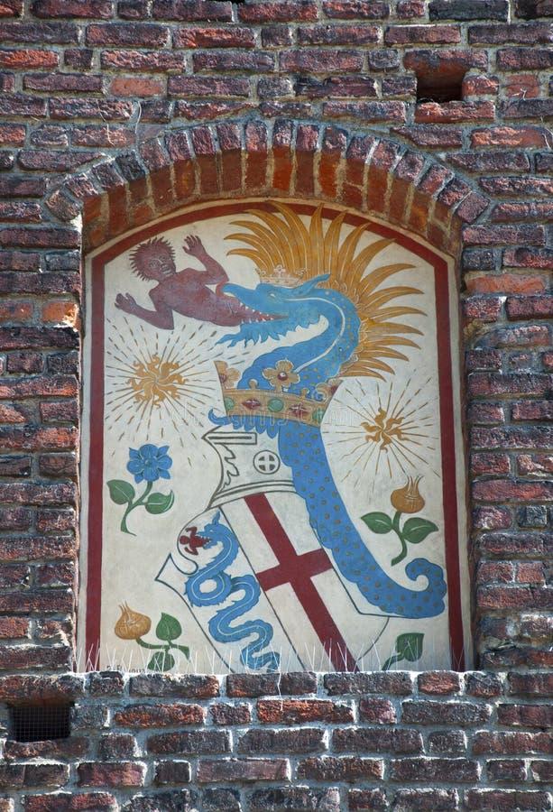 Download Sforza-Schlossdetail stockfoto. Bild von grenzstein - 106801186