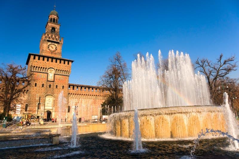 Sforzas Schloss, Mailand, Italien. lizenzfreies stockbild