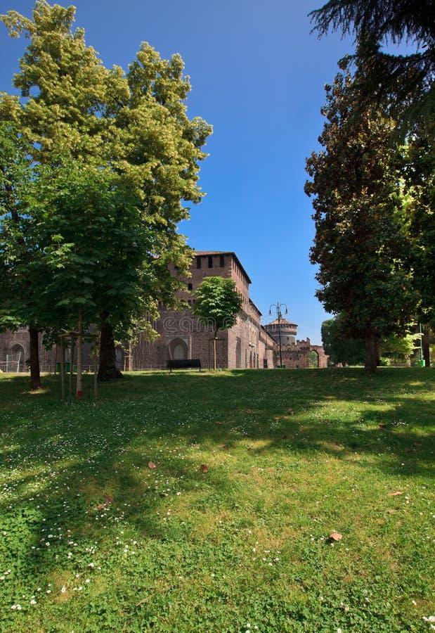 Download Sforzesco castle, Milan stock photo. Image of sforza - 20189798