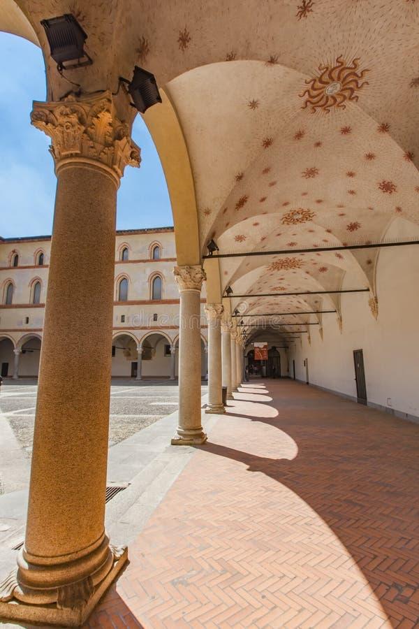 Sforzesco kasztel w Mediolan, Włochy obrazy stock