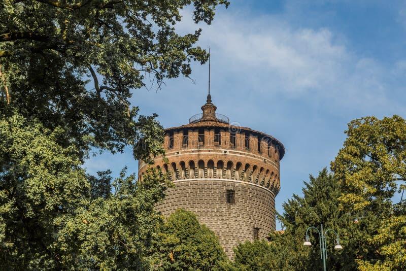Sforzesco-Schloss von Mailand stockfotografie
