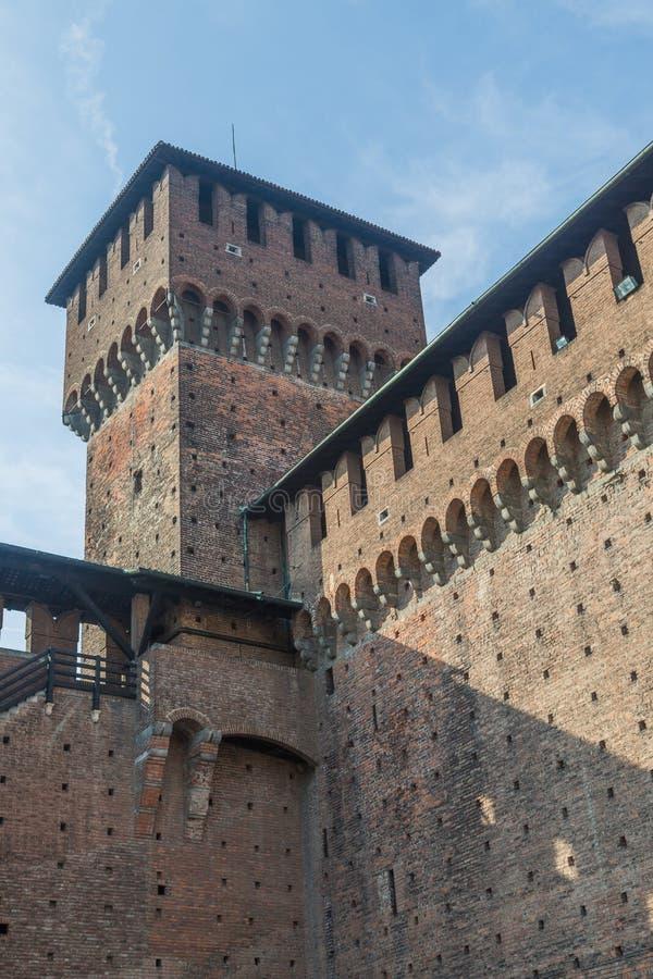 Sforzescokasteel van Milaan stock afbeelding