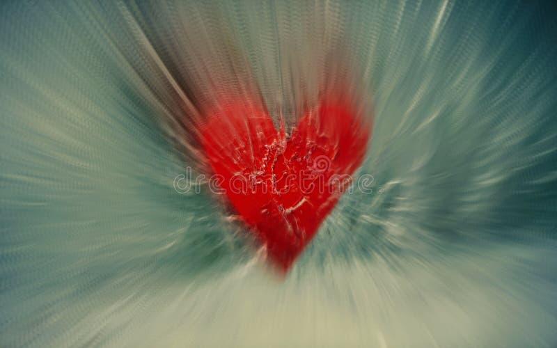 Sforzo del cuore e concetto di angoscia illustrazione di stock