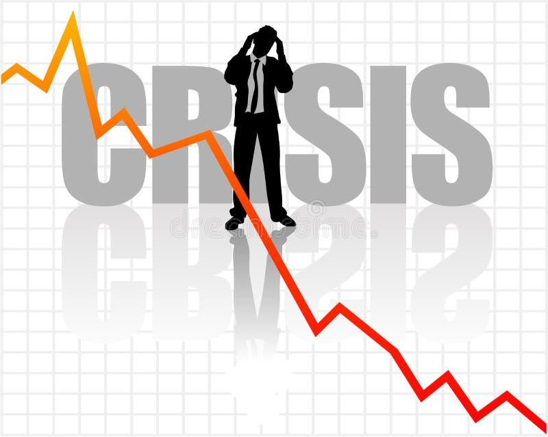 Sforzo di crisi royalty illustrazione gratis