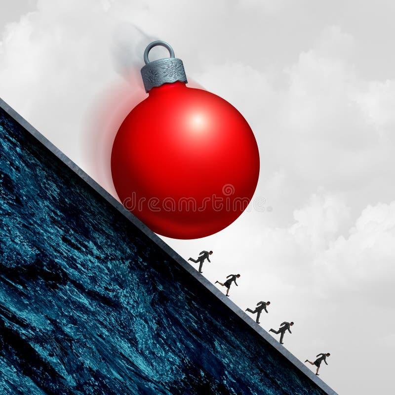 Sforzo di festa di Natale royalty illustrazione gratis