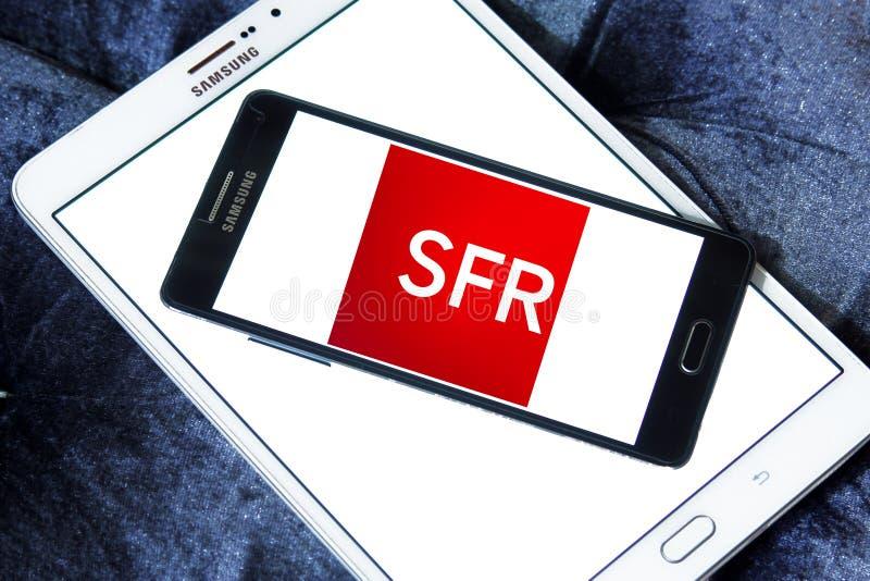 SFR telekomunikacj firmy logo fotografia stock