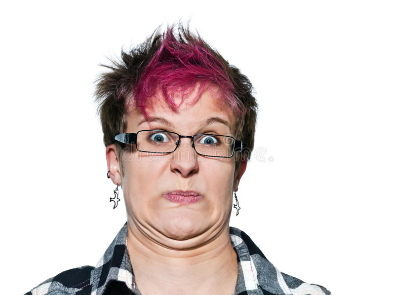 Sfrustowana młoda kobieta Close-up portret zdjęcie royalty free