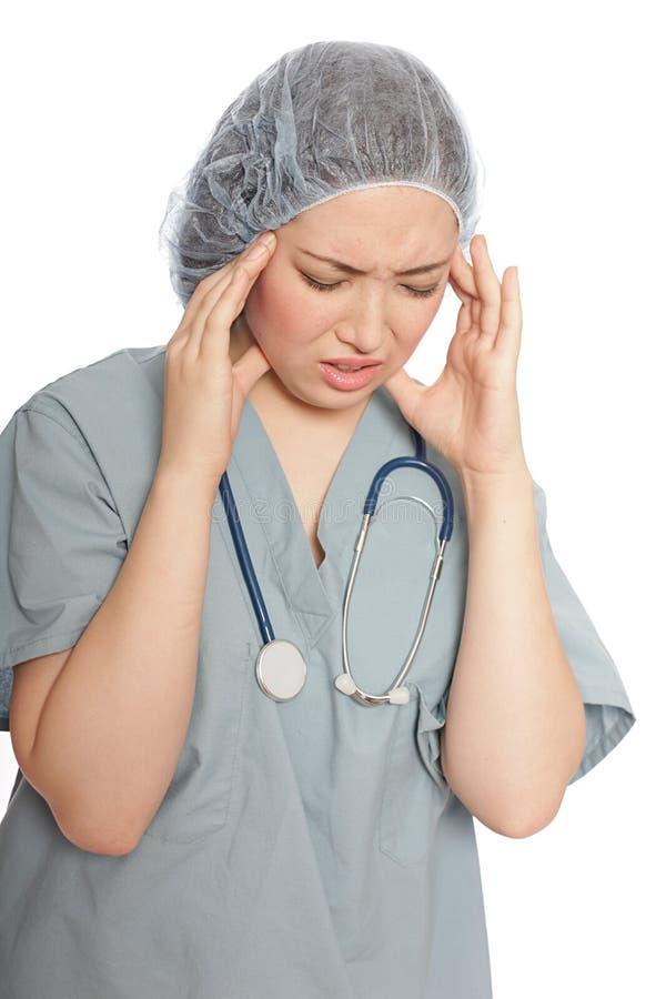 sfrustowana pielęgniarka obrazy stock