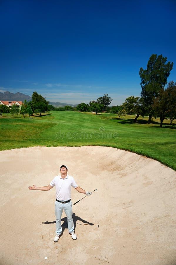 Sfrustowany golf zdjęcie stock