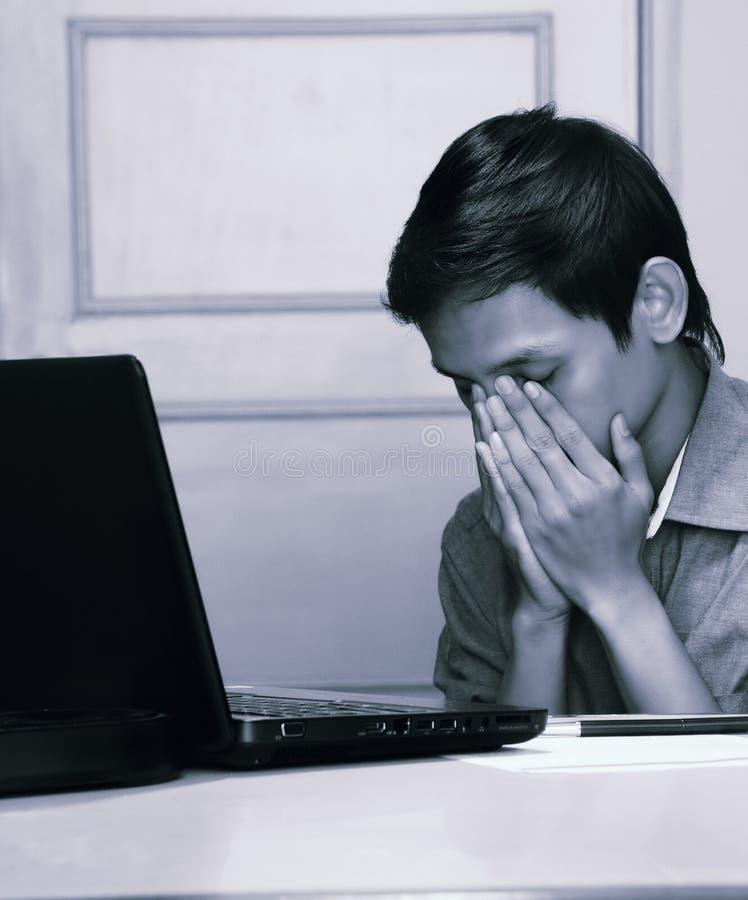 sfrustrowany nastolatków zdjęcie stock