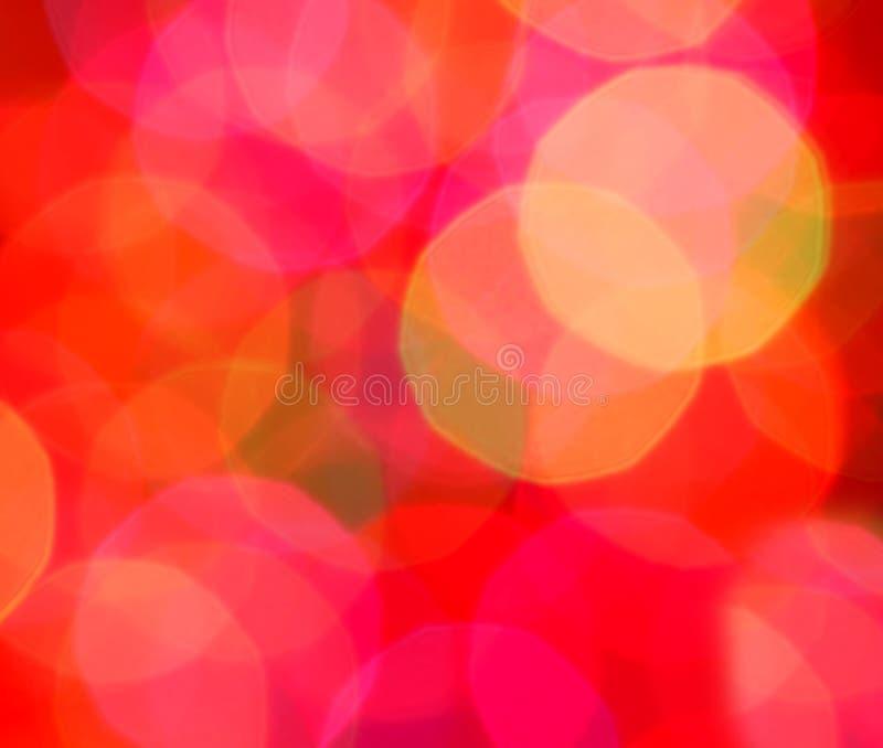 Sfuocatura astratta degli indicatori luminosi di natale fotografia stock