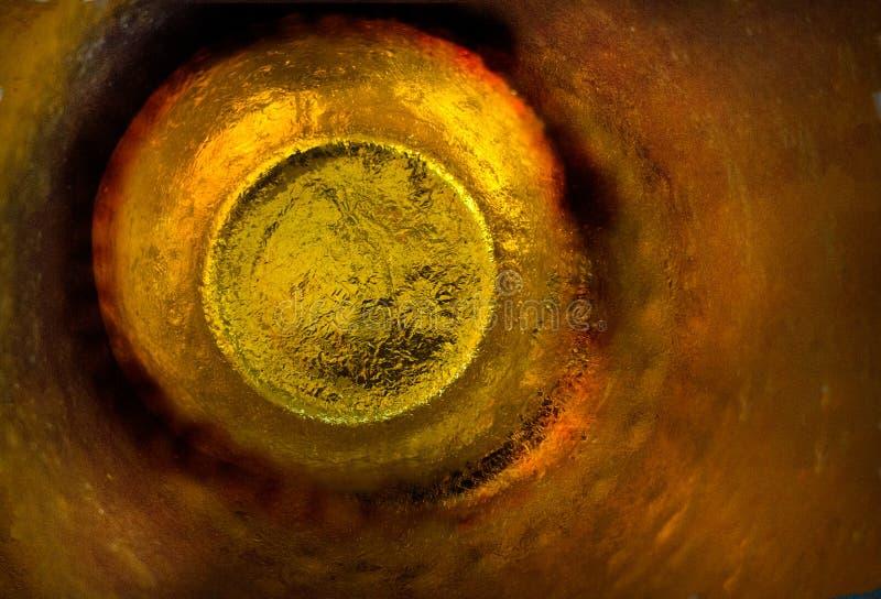 Sfuocatura astratta di struttura dell'oro metallico immagine stock libera da diritti