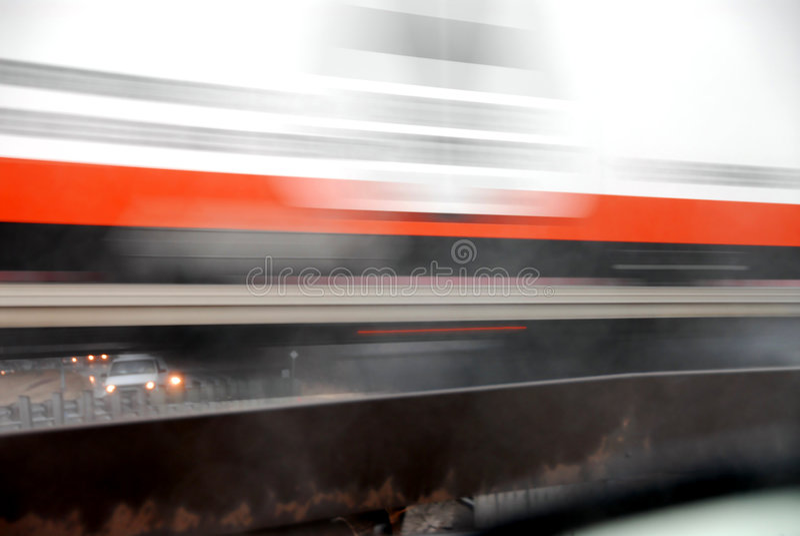 Sfuocatura commovente del camion fotografia stock
