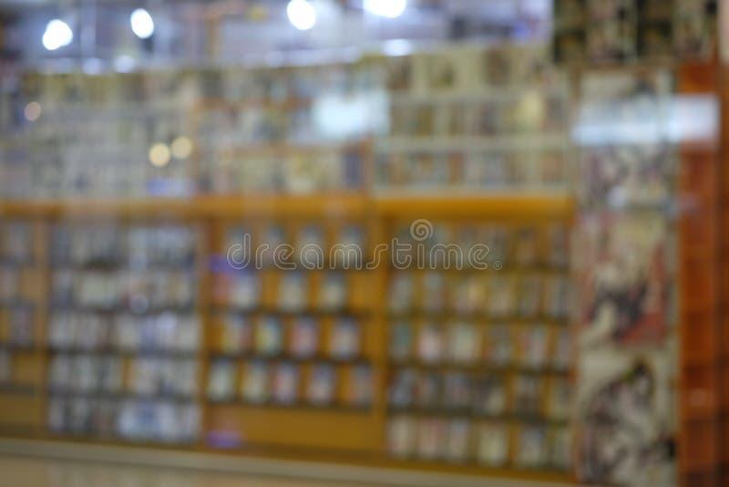 Sfuocatura degli scaffali per libri fotografie stock