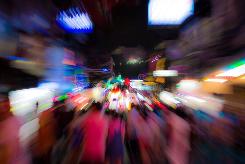 Sfuocatura del fondo alla notte fotografia stock