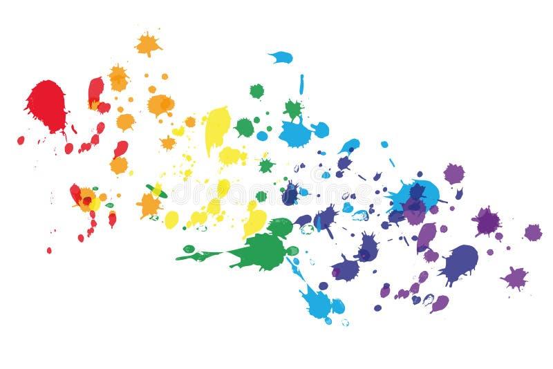 Sfuocatura di colore nei colori dell'arcobaleno illustrazione vettoriale