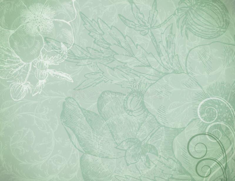 Sfuocatura verde illustrazione di stock