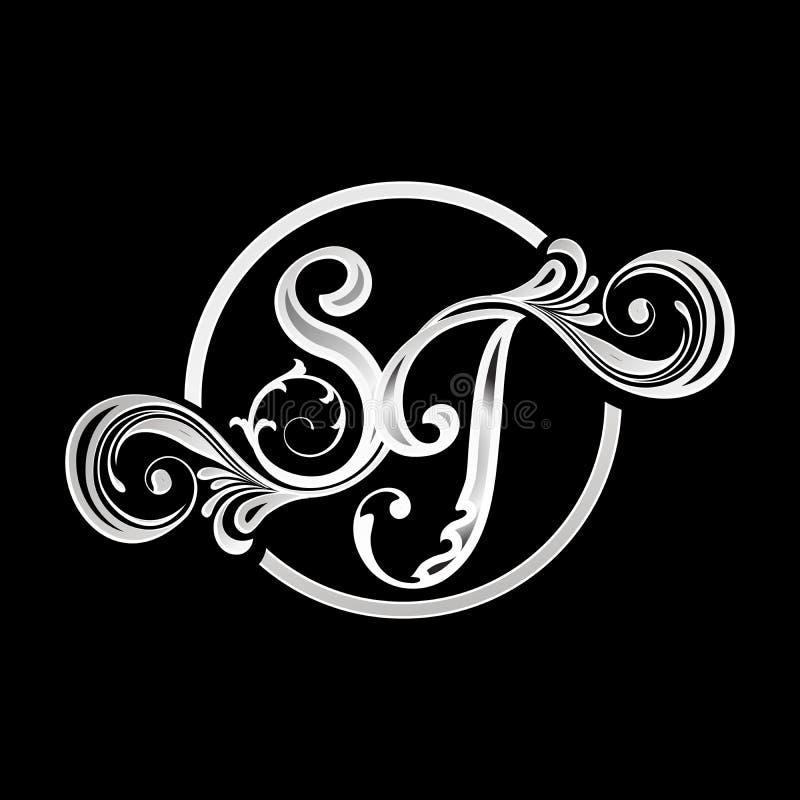 ED, DE, EO Ornamental Initials Geometric Company Logo