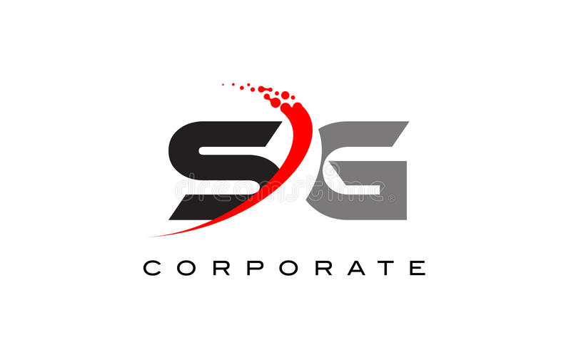 SG Modern Letter Logo Design with Swoosh stock images