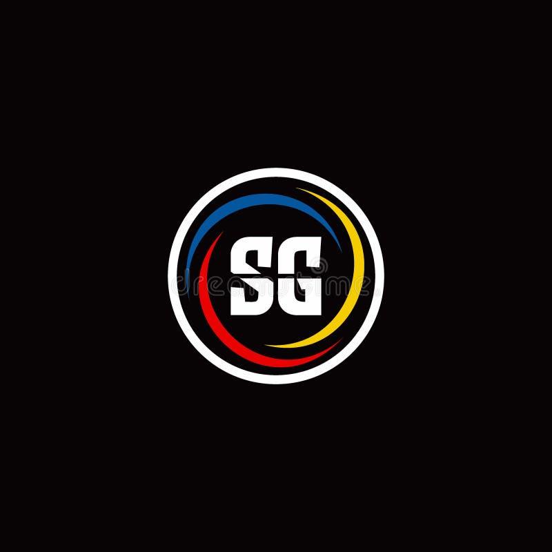 SG Circle Shape Letter Logo Design Stock Vector