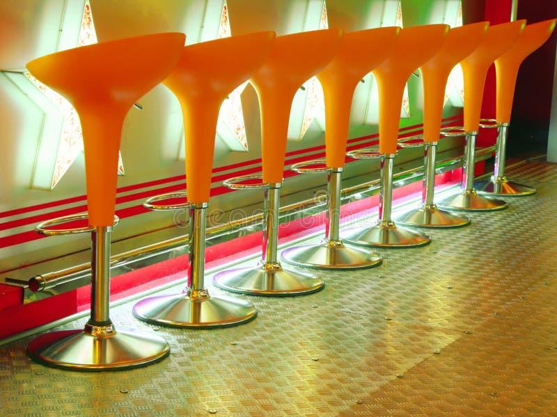 Sgabello arancione fotografie stock