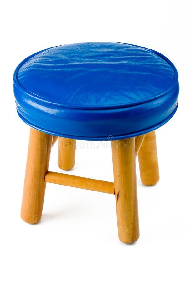 Sgabello blu fotografie stock libere da diritti