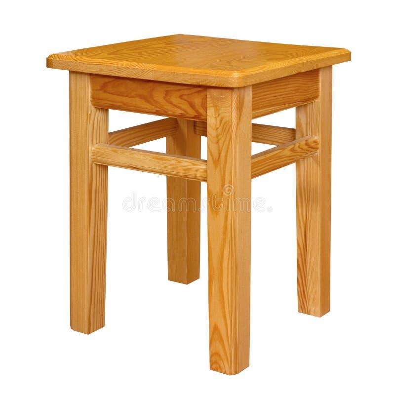 Sgabello di legno semplice isolato immagine stock for Sgabello bianco legno