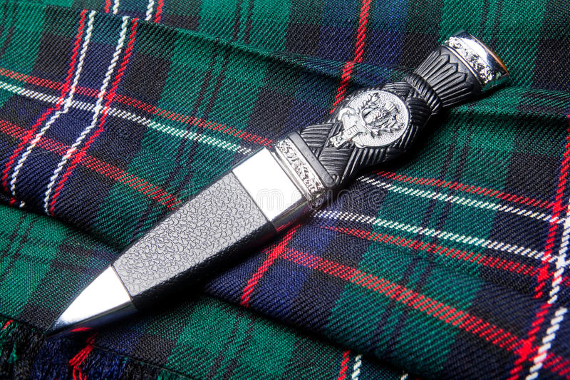 Sgian Dubh On Kilt Royalty Free Stock Images