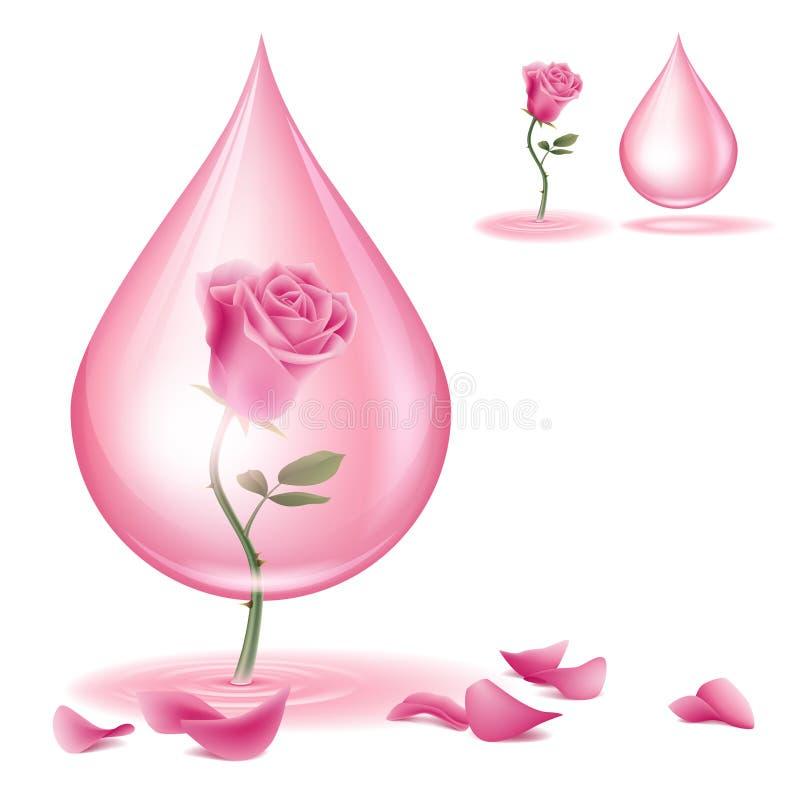 Sgocciolatura dell'olio rosa illustrazione vettoriale