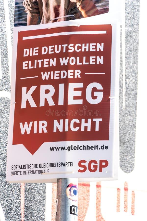 SGP-politisk kampanjaffisch arkivfoto