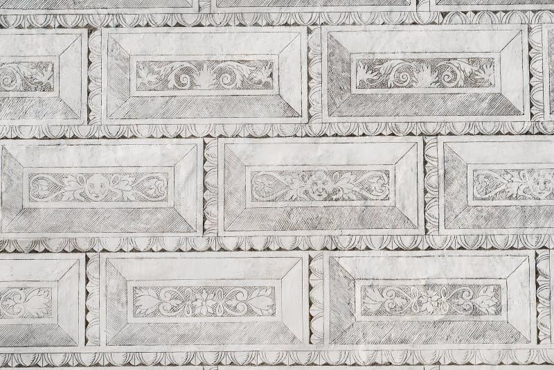 Sgraffito ζωγραφική διακοσμήσεων ντεκόρ τοίχων κάστρων πύργων sgraffiti μαύρη άσπρη στοκ φωτογραφίες με δικαίωμα ελεύθερης χρήσης