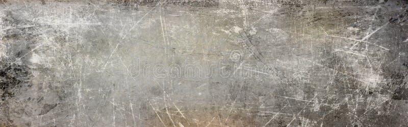 Sgraffito na textura da pintura do cinza e do sepia ilustração stock