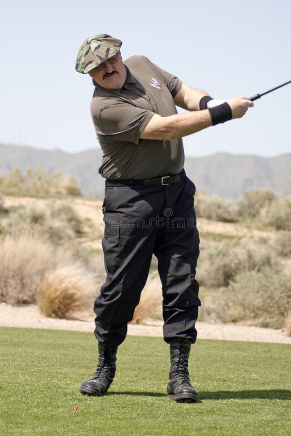 Sgt. het golfing van de Slachting in toernooien stock afbeelding