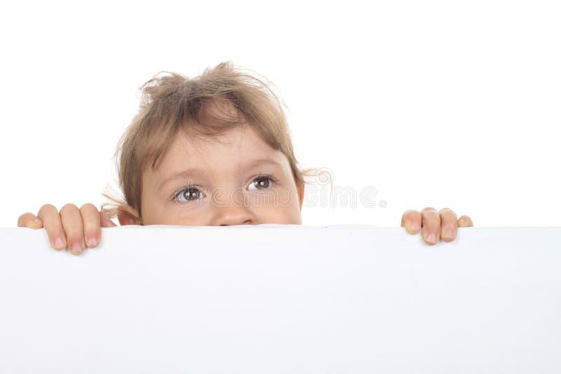 Sguardi della bambina fotografia stock