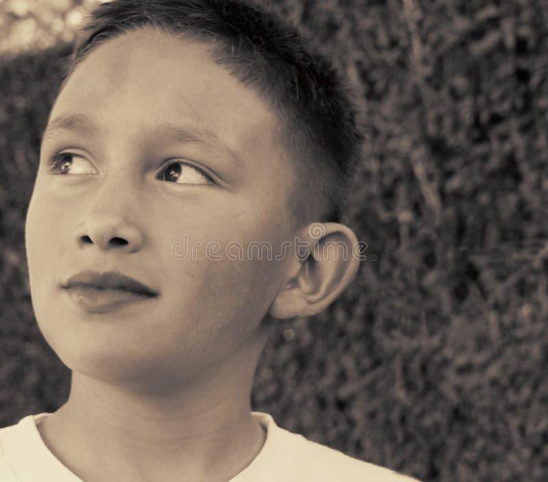 Download Sguardo immagine stock. Immagine di ritratto, ragazzo, sepia - 56919