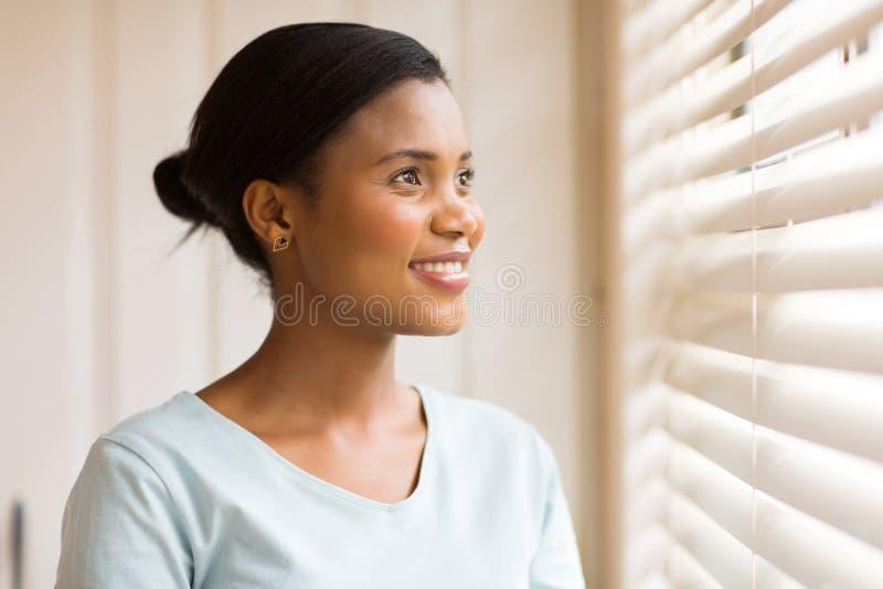 Sguardo afroamericano della donna fotografia stock