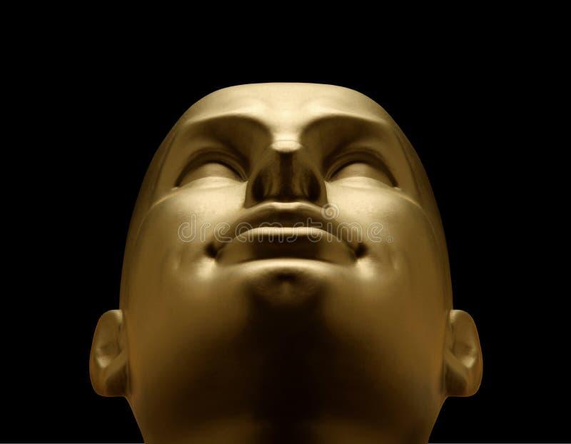 Sguardo capo del mannequin dell'oro in su immagini stock