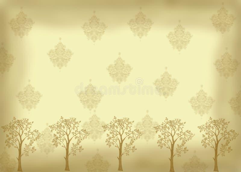 Sguardo dell'annata con gli alberi fotografie stock libere da diritti