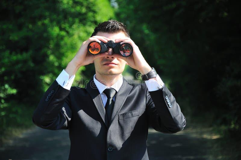 Sguardo dell'uomo di affari fotografie stock