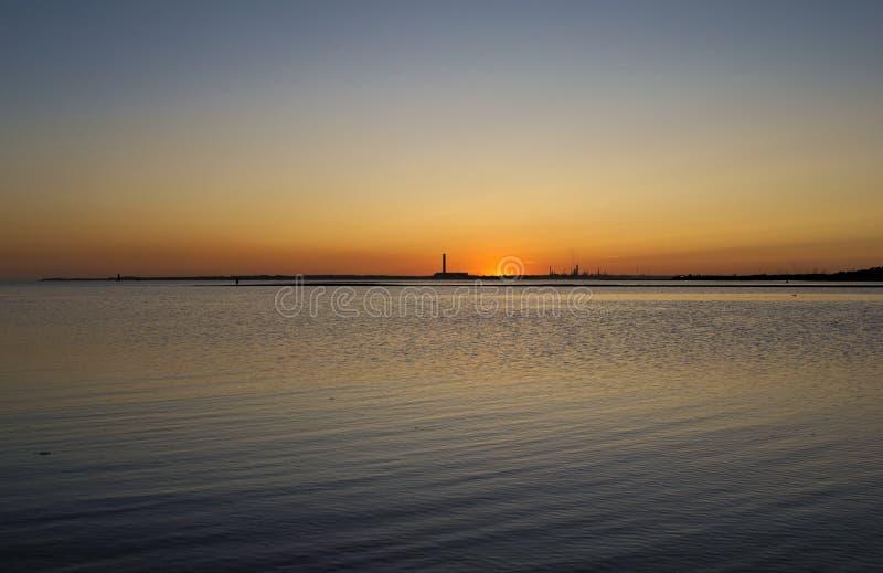 Sguardo finale dell'impostazione Sun fotografia stock libera da diritti