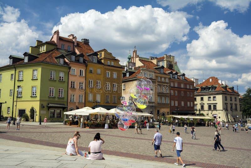 Sguardo fisso Miasto di Città Vecchia di Varsavia immagine stock