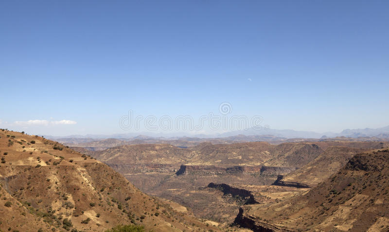 Sguardo fuori sopra il paesaggio etiopico fotografie stock