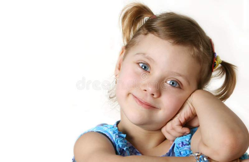 Sguardo grazioso del bambino di divertimento a voi immagine stock libera da diritti