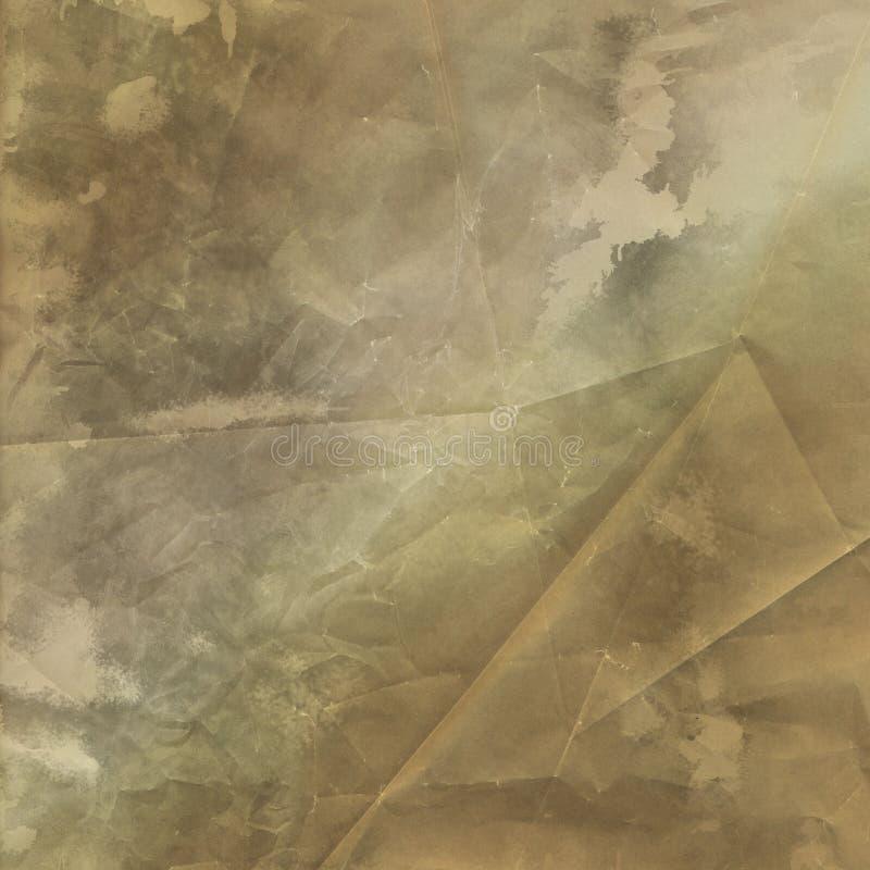 Sguardo indossato fondo semplice Brown di lerciume piegato strutturato illustrazione vettoriale