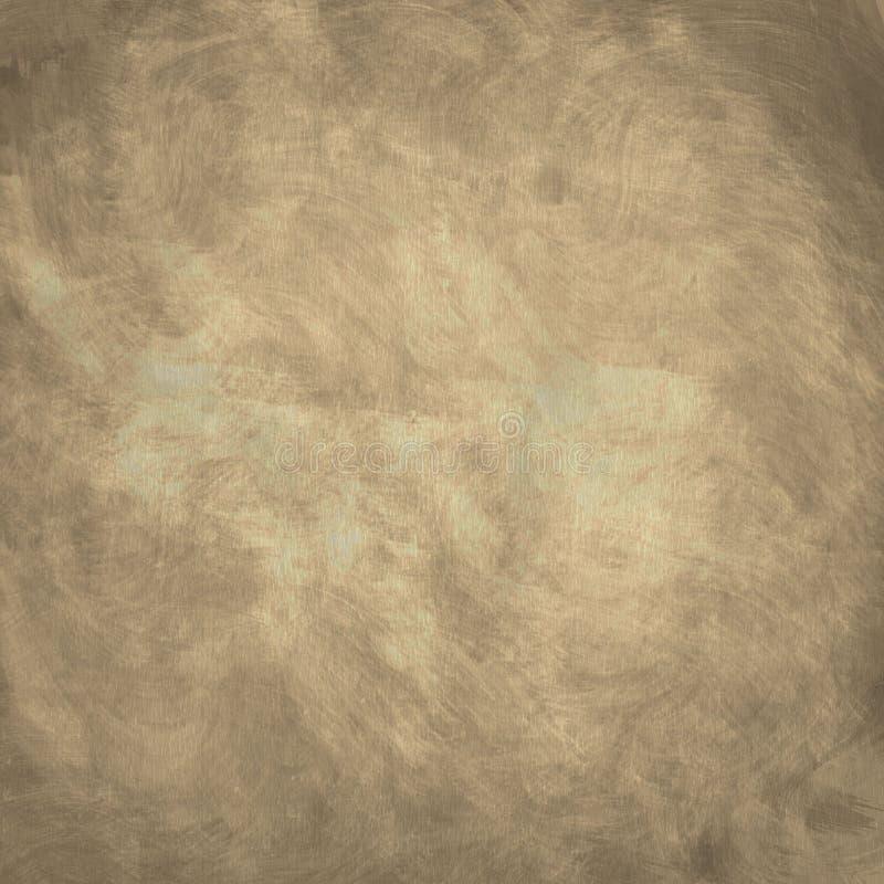 Sguardo indossato fondo semplice Tan Textured di lerciume illustrazione di stock