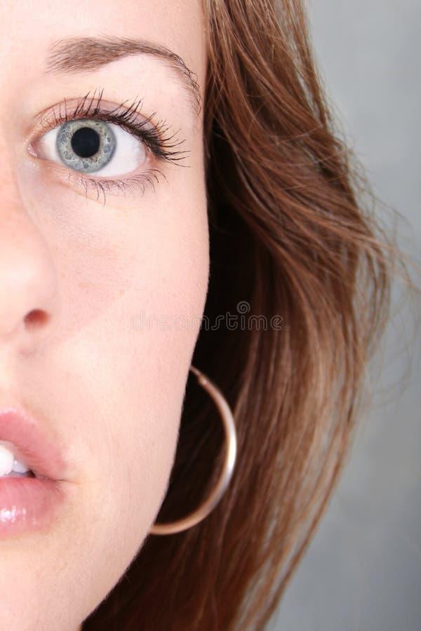Sguardo intenso nel vostro occhio immagini stock