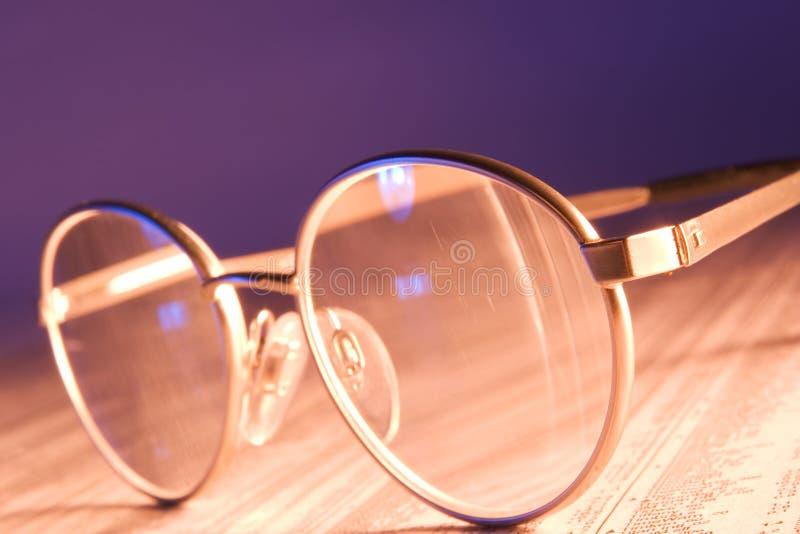 Sguardo più attento al mercato azionario fotografia stock