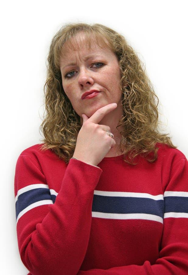 Sguardo scettico femminile fotografia stock