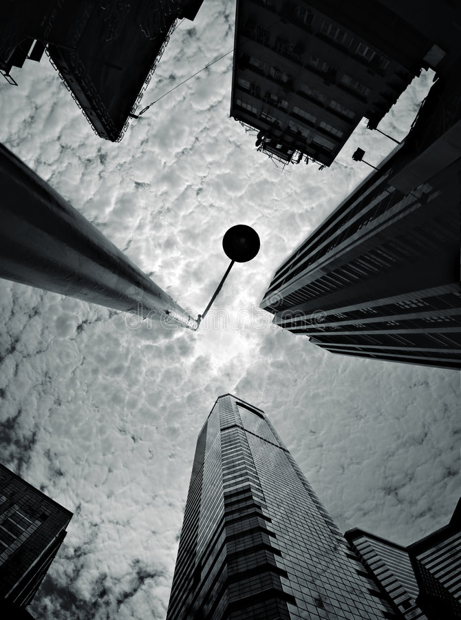 Sguardo in su a Hong Kong immagine stock